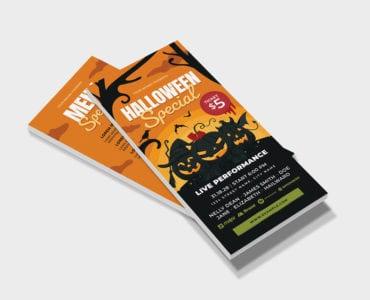 Halloween DL Card Template (PSD & Vector)