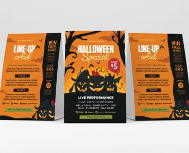 Halloween Special Party Flyer Template (PSD & Vector)
