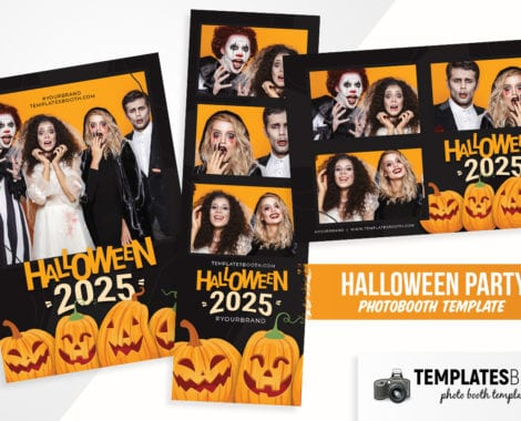 Halloween Party Photo Booth Template