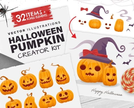 Halloween Pumpkin Vector Creator Kit