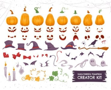 Halloween Pumpkin Vector Illustrations