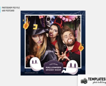 Halloween Spooky Night Photo Booth Template