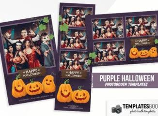 Purple Halloween Photo Booth Template