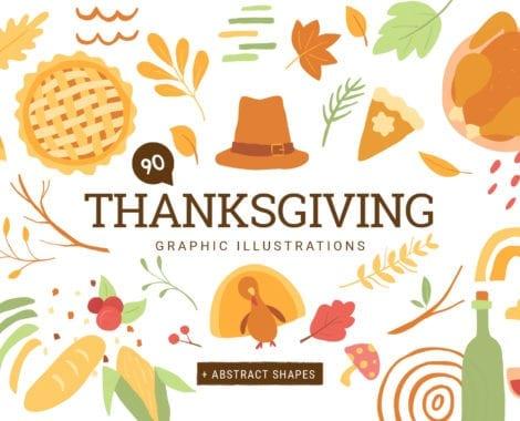 Thanksgiving Vector Graphics & Illustrations for Photoshop & Illustrator