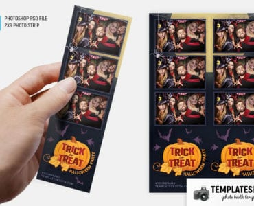 Trick or Treat Halloween Photo Booth Template
