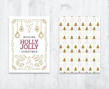 Ornate Christmas Card Template - PSD, Vector, EPS, Ai
