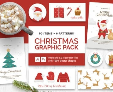 Christmas Vector Graphics for Photoshop & Illustrator