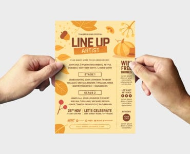 thanksgiving flyer template back