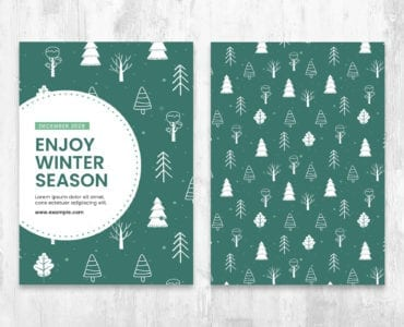 Winter Christmas Card Templates in PSD & Vector