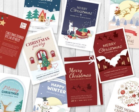 Christmas Card Templates for Adobe Illustrator