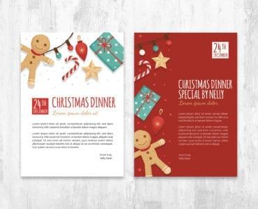 Christmas Card Template for Adobe Illustrator