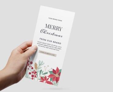 DL Christmas Menu Flyer Template for Adobe Illustrator