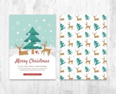 Festive Christmas Card Flyer Templates