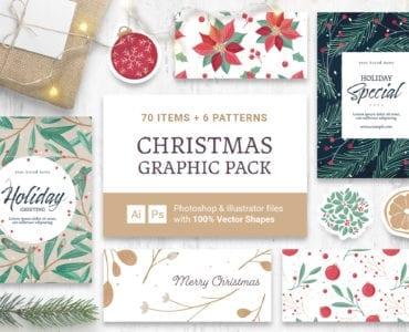 Festive Christmas Vector Clipart for Photoshop & Illustrator