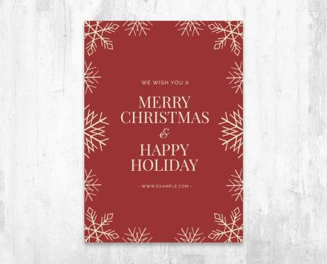 Minimal Christmas Flyer PSD for Photoshop
