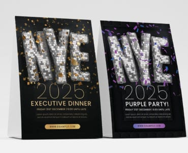 NYE Party Flyer Template PSD for Photoshop