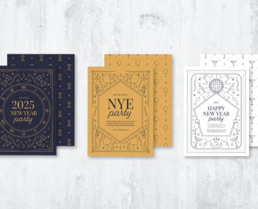 Ornate NYE Flyer & Postcard Templates (PSD & Vector)
