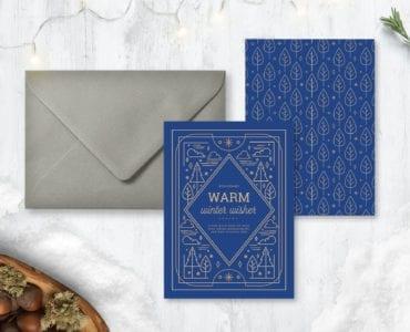 Ornate Winter Card Templates for Photoshop & Illustrator
