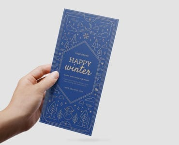 Ornate Winter DL Card Template in PSD & Vector