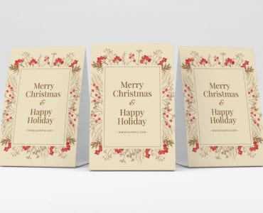 Simple Christmas Flyer Template PSD for Adobe Photoshop