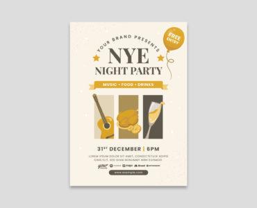 NYE Flyer Template Vector for Adobe Illustrator