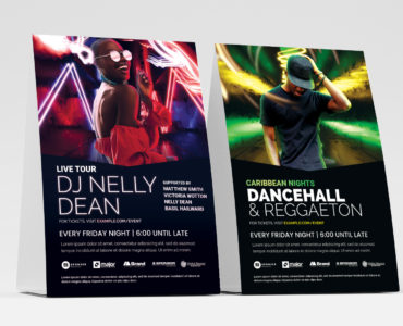 DJ Club Flyer Templates in Photoshop PSD