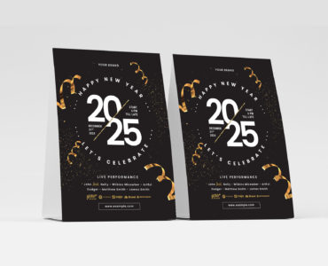 New Year's Eve Flyer Template Vector for Illustrator