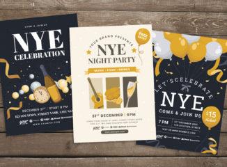 NYE Flyer Templates for Adobe Illustrator
