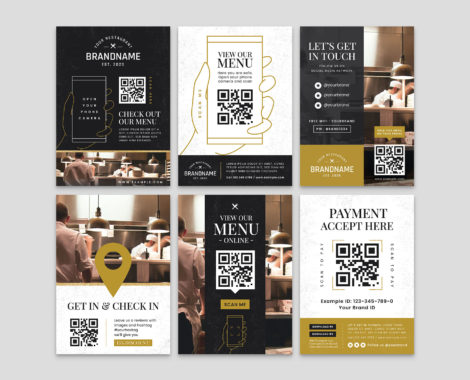 QR Code Flyer Templates for Illustrator