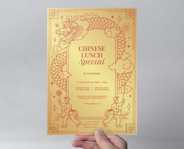 Chinese Restaurant Flyer Template (PSD, Photoshop, Illustrator, Vector, EPS)