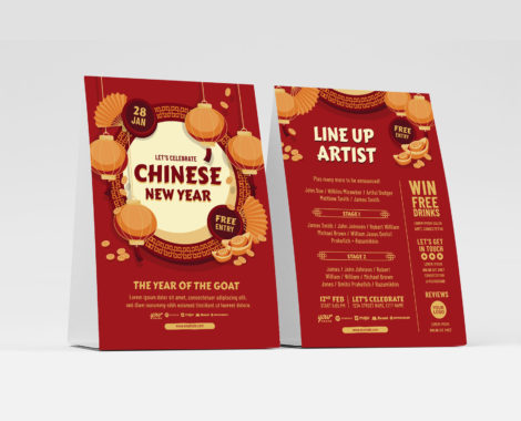 Chinese Flyer Template (Vector, EPS, Illustrator)