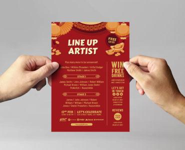 Chinese Flyer Template (Vector, EPS, Illustrator)