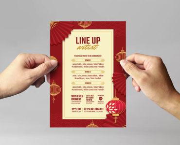Chinese New Year Party Flyer (Vector, EPS, Ai, Illustrator)
