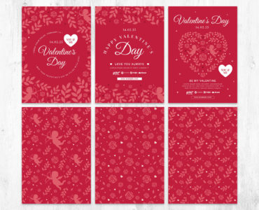 Elegant Valentine's Day Flyer Templates in PSD, Ai, EPS, Vector