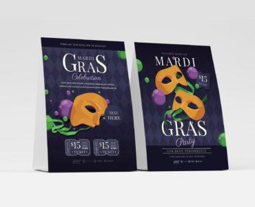 Mardi Gras Event Flyer Template (PSD, Ai, Vector)