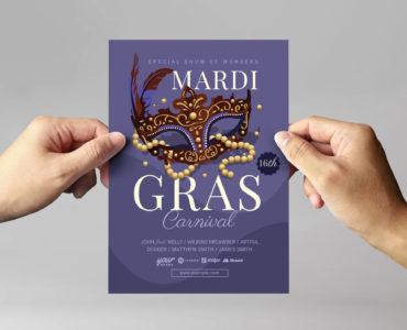 Mardi Gras Flyer Templates in PSD, Ai, Vector