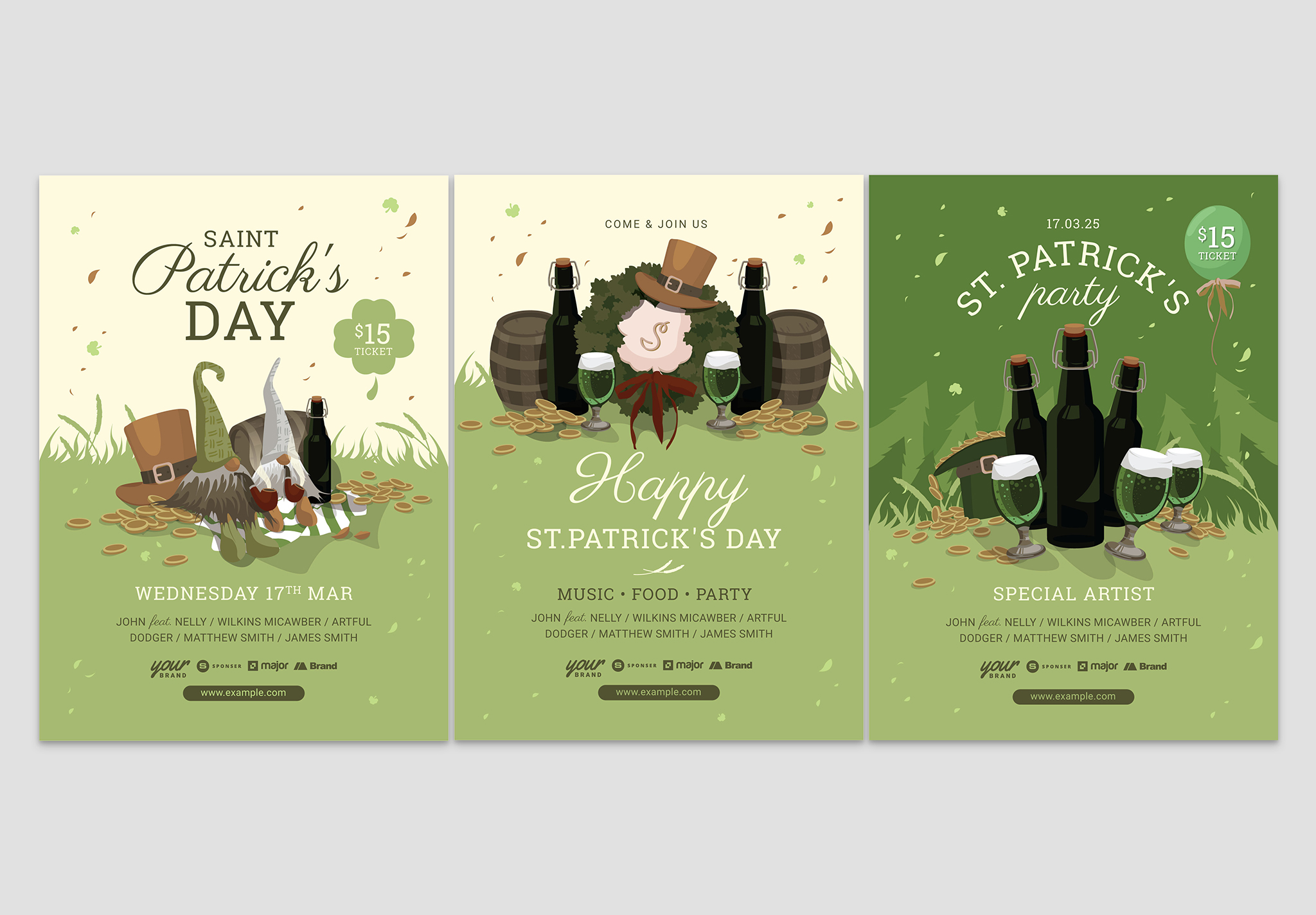 Rustic St. Patrick's Day Flyer Template (PSD & Vector)