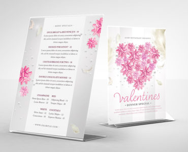 Valentine's Day Party Flyer Template (PSD)