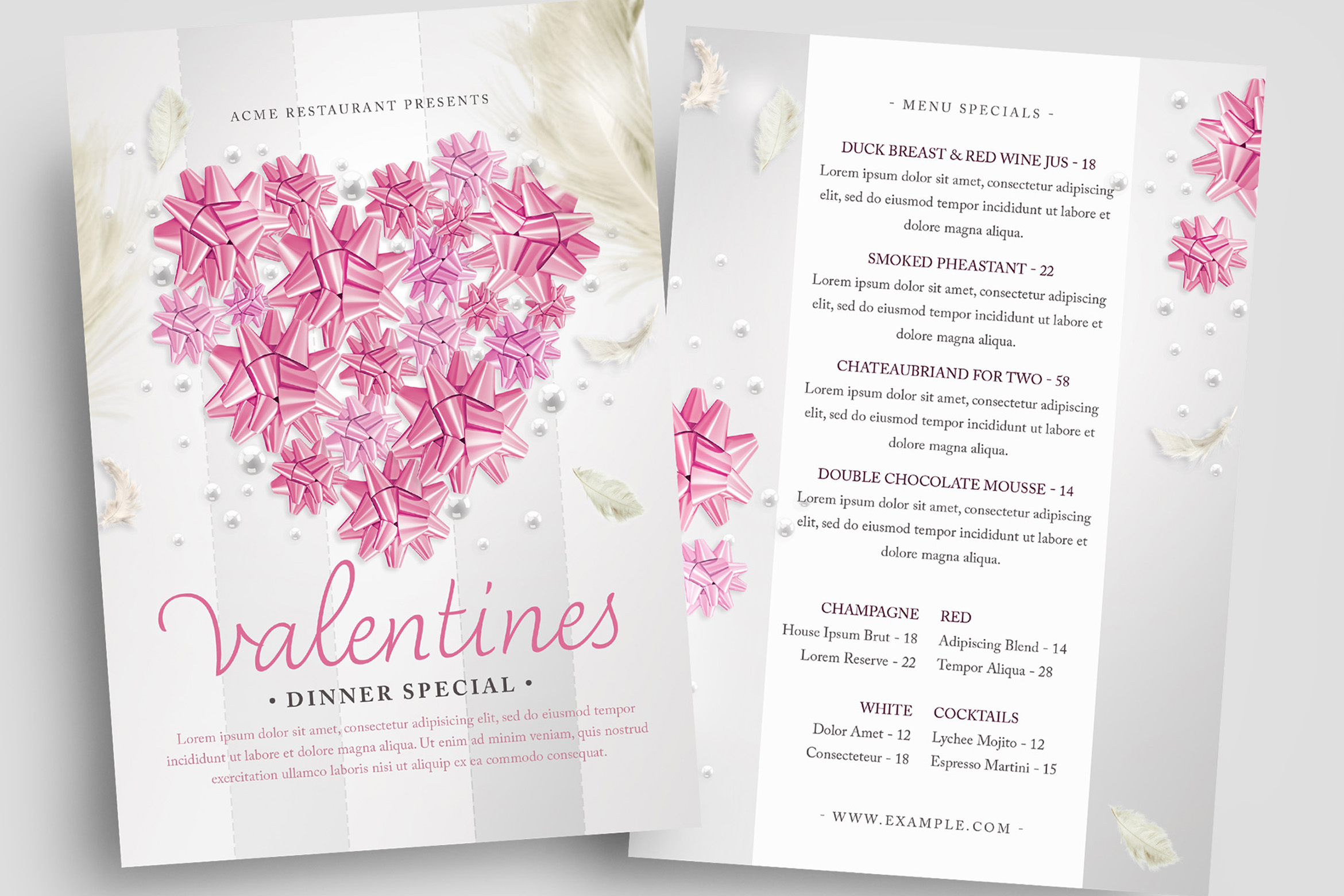 Valentines PSD Flyer Template
