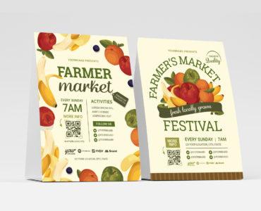 Farmers Market Flyer Templates (PSD, Ai, Vector)