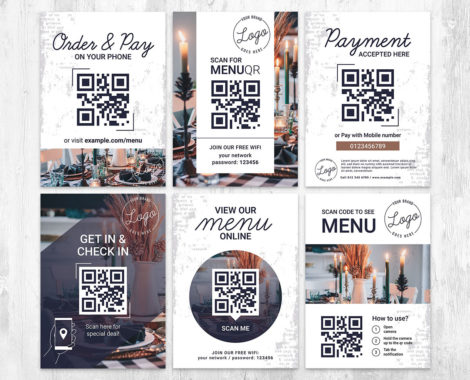 QR Code Check In Flyer Templates in PSD, Vector, Ai