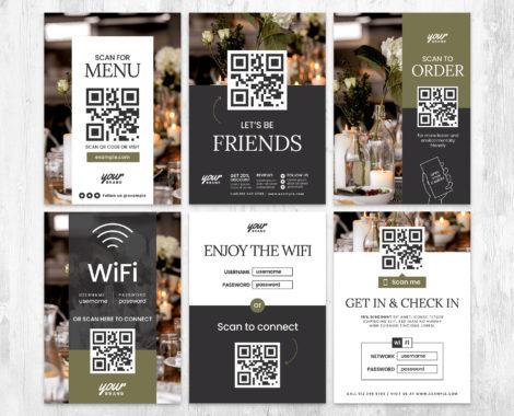 QR Code Flyer Templates in PSD & Vector for Restaurants, Cafes & Bars