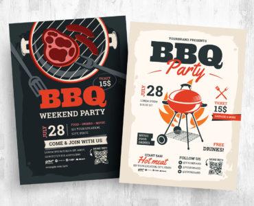 Barbecue Flyer Templates [PSD, Ai, Vector]