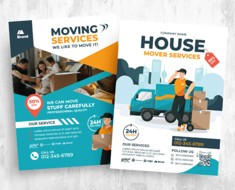 House Moving Service Flyer Template (PSD, Ai, Vector)