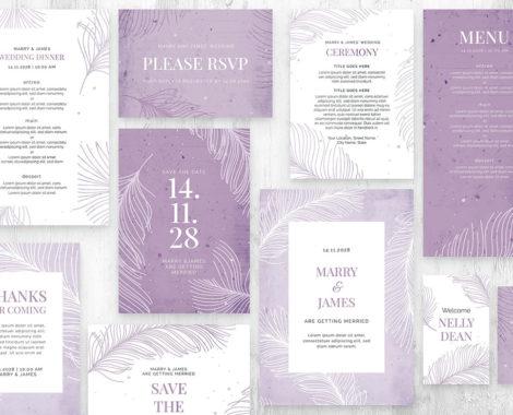 Minimal Wedding Template (PSD, Ai, Vector)