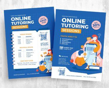 Online Tutoring Flyer Template [PSD, Ai, Vector]