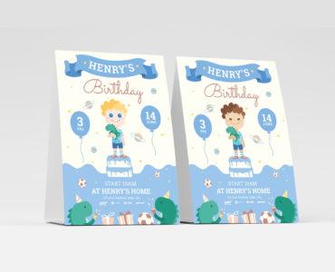 Boy's Birthday Flyer Template