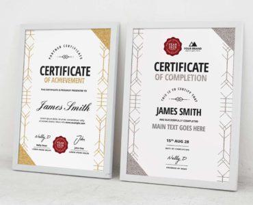 Art Deco Certificate Templates (PSD, Vector, Ai)