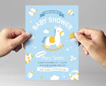 Baby Shower Flyer Template (PSD, Ai, Vector)