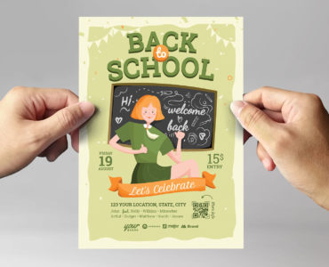 Back To School Flyer Template (PSD, Ai, Vector, EPS)
